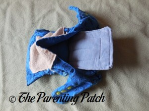 Insert in Pocket of StorkStopover Upcycled Newborn Fitted Pocket Cloth Diaper