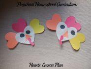 Preschool Homeschool Curriculum: Hearts Lesson Plan