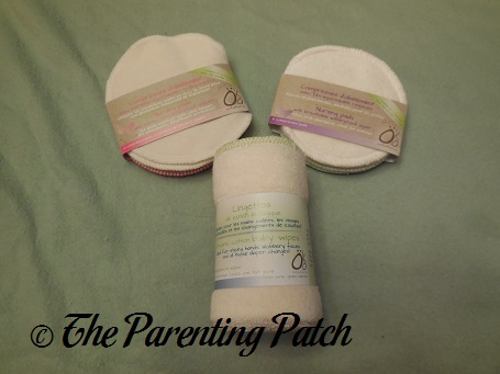 Oko Creations Breathable Waterproof Nursing Pads, Nursing Pads with Merino Wool Topper, and Organic Cotton Baby Wipes