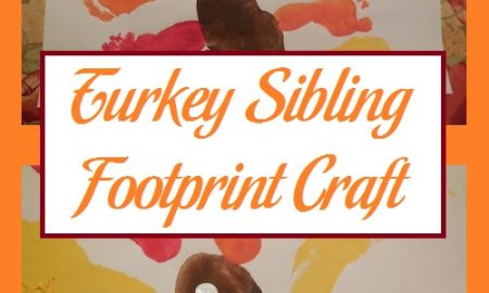 Turkey Sibling Footprint Craft
