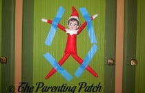The Elf Stuck to the Wall: The Elf on the Shelf Day 4