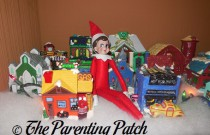 The Elf and the Christmas Village: The Elf on the Shelf Day 5
