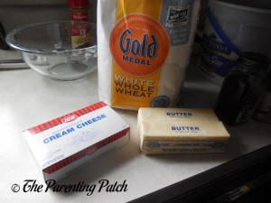 Ingredients for Cream Cheese Jam Cookies