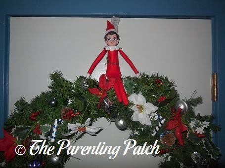 The Elf on the Christmas Wreath