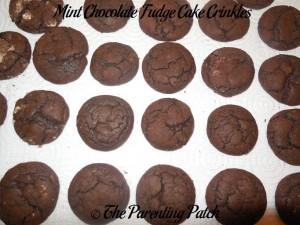 Mint Chocolate Fudge Cake Crinkles