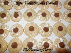 Butter Pecan Blossom Cookies