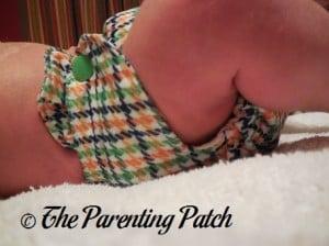 Side of Emerson Smart Bottoms Born Smart Newborn Diaper on Newborn 1