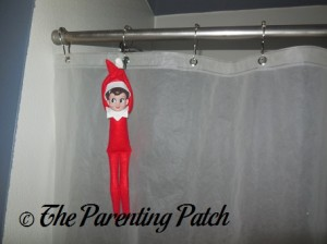 The Elf on the Shower Curtain