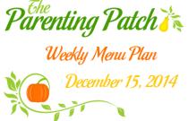 Weekly Menu Plan 15 December 2014