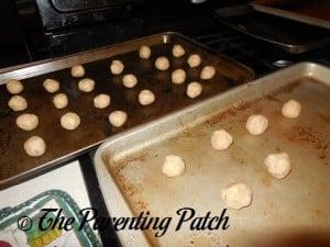 Unbaked Pecan Snowball Cookies