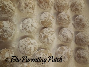 Finished Pecan Snowball Cookies