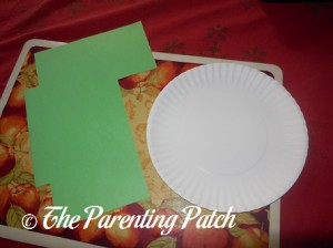 Green Construction Paper and Paper Plate