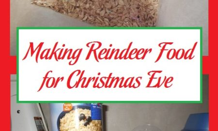 Making Reindeer Food for Christmas Eve
