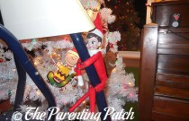 The Elf on the Baby Swing: The Elf on the Shelf Day 23