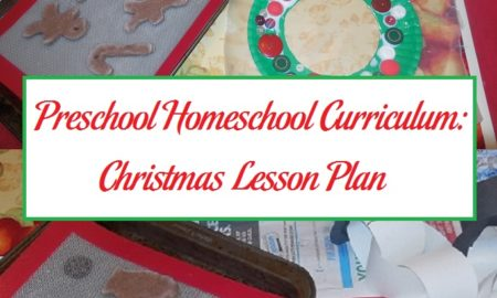 Preschool Homeschool Curriculum: Christmas Lesson Plan