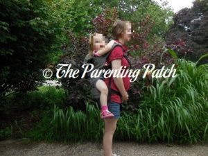Heather Wearing Poppy in Back Carry in the Boba 4G Carrier 1