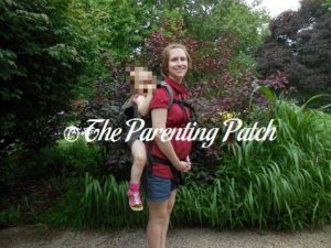 Heather Wearing Poppy in Back Carry in the Boba 4G Carrier 2
