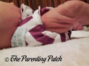 Side of Nicki's Diapers Newborn Bamboo All-in-One on Newborn 1