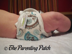 Side of Capri Newborn Diaper Cover on Newborn at Nine Weeks 1