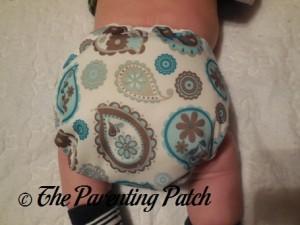 Back of Capri Newborn Diaper Cover on Newborn at Nine Weeks