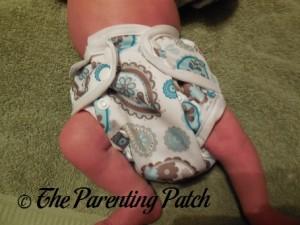 Back of Capri Newborn Diaper Cover on Newborn