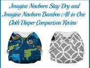 Imagine Newborn Stay-Dry and Imagine Newborn Bamboo All-in-One Cloth Diaper Comparison Review