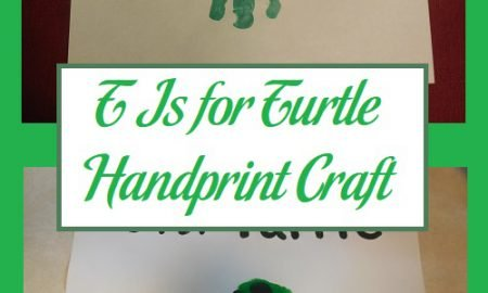 T Is for Turtle Handprint Craft