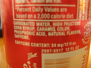 High-Fructose Corn Syrup on Label