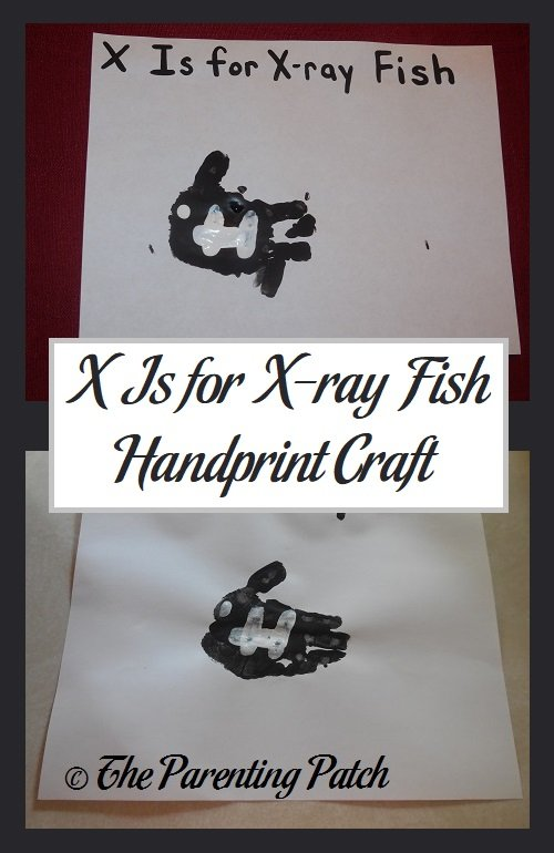 X Is for X-ray Fish Handprint Craft