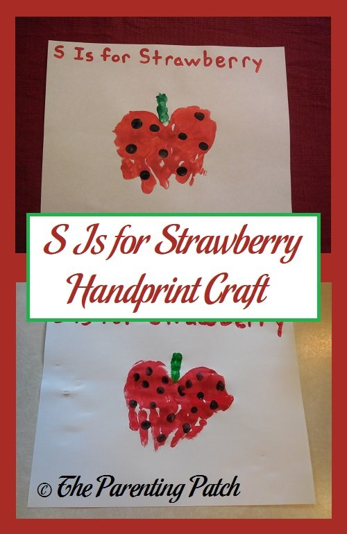 S Is for Strawberry Handprint Craft