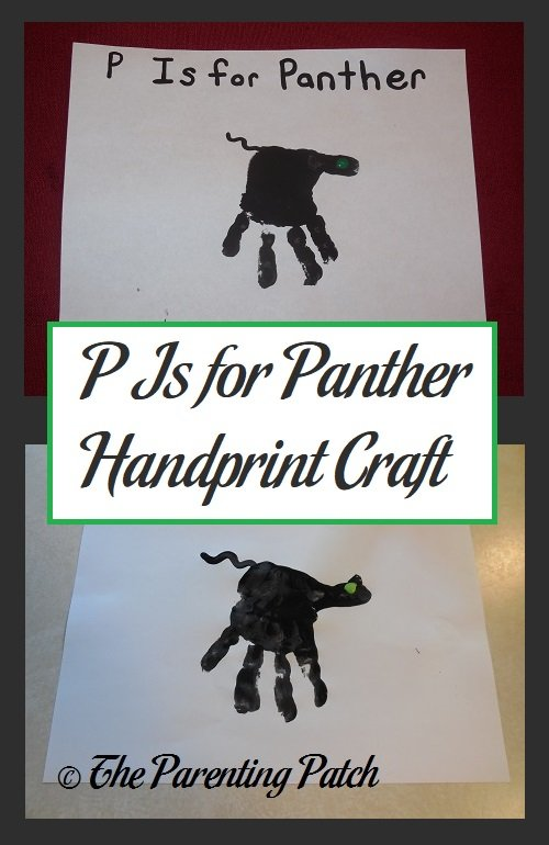 P Is for Panther Handprint Craft