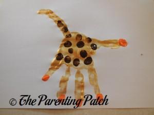 Adding Five Orange Fingertip Prints