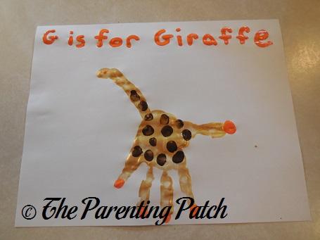 G Is for Giraffe Handprint Craft
