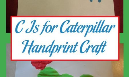 C Is for Caterpillar Handprint Craft