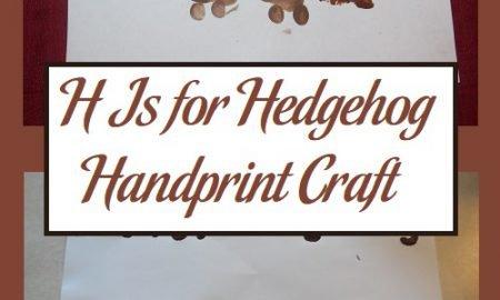 H Is for Hedgehog Handprint Craft