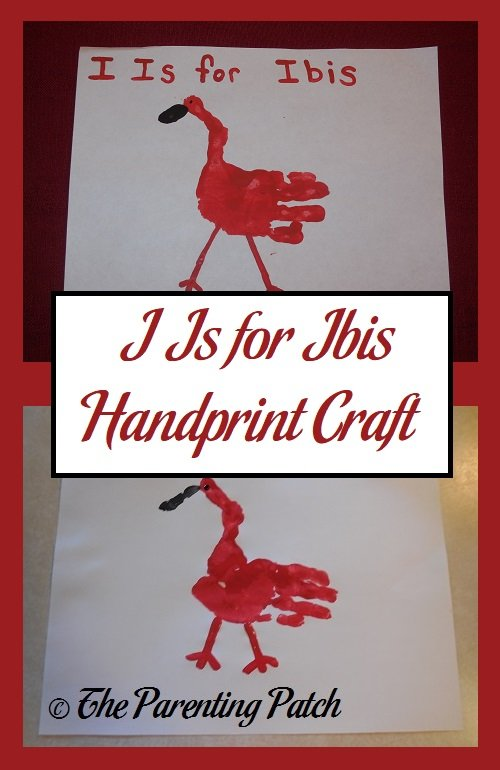 I Is for Ibis Handprint Craft