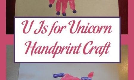 U Is for Unicorn Handprint Craft