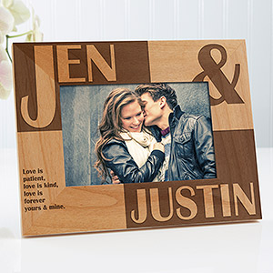 because of you personalized frame