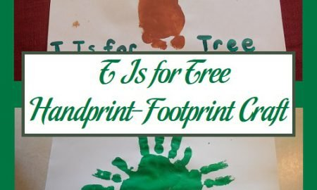 T Is for Tree Handprint-Footprint Craft