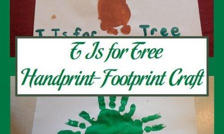 T Is for Tree Handprint-Footprint Craft