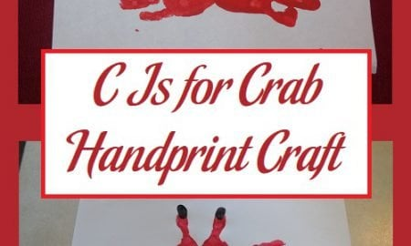 C Is for Crab Handprint Craft