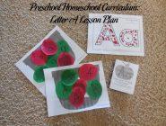 Preschool Homeschool Curriculum: Letter A Lesson Plan