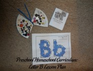 Preschool Homeschool Curriculum: Letter B Lesson Plan