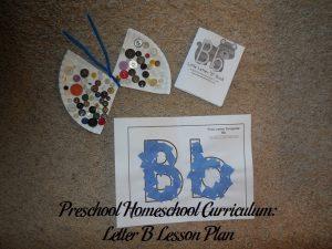 Letter B Preschool Activities
