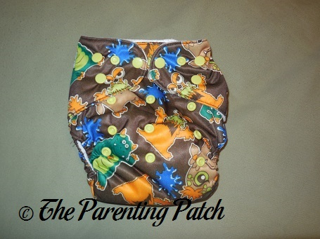 Front of Diaper Junction One-Size All-in-One Cloth Diaper