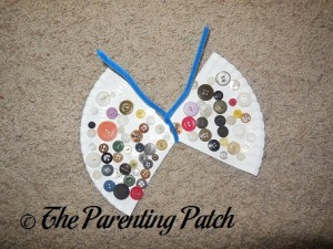 Paper Plate Button Butterfly Craft
