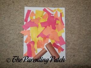 Torn Paper Fire Craft