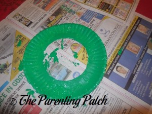 Painting the Paper Plate Green