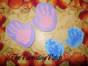 Construction Paper Mittens with Handprints