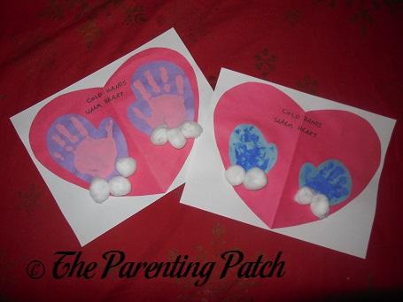 Cold Hands Warm Heart Handprint Crafts